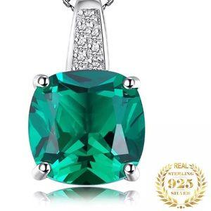 Jewelry - Nano Emerald & Silver Necklace  100000900